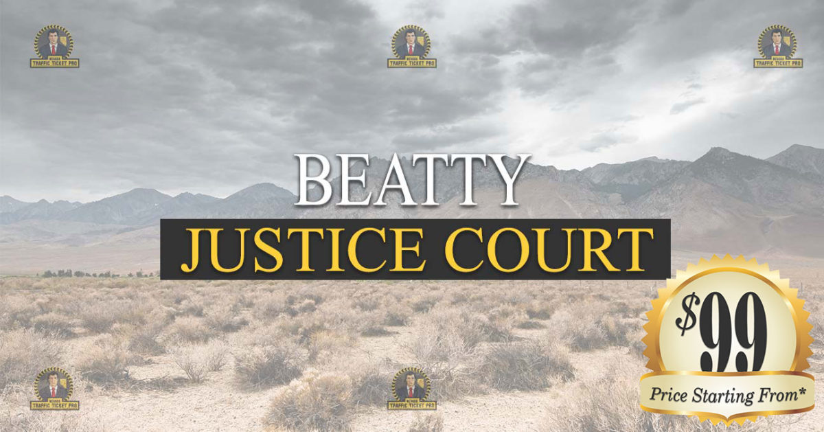 Beatty Justice Court Nevada Traffic Ticket Pro Dan Lovell
